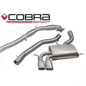 Cobra Exhaust for Honda Civic Type R (FN2) – HN16 – Cat Back System (Resonated)