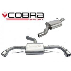 Cobra Exhaust for Vauxhall Corsa D VXR – VP02a – Pre-Cat/De-Cat Pipe & Second De-Cat Section