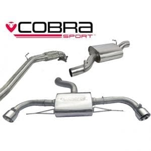 Cobra Exhaust for BMW M140i (3 & 5 door) (F20 & F21 LCI) Manual Gearbox – BM87 – Cat Back System (Resonated)