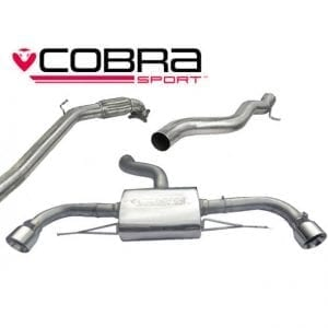 Cobra Exhaust for Ford Fiesta Mk6 (Zetec) – FD34 – Cat Back System (Non-Resonated)