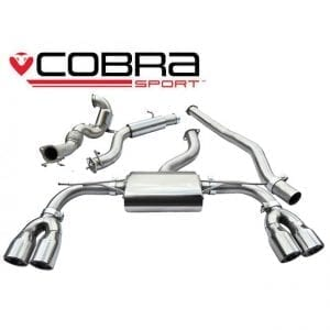Cobra Exhaust for Fiat 500 Abarth 1.4 Turbo – FT10 – Cat Back System (Resonated)