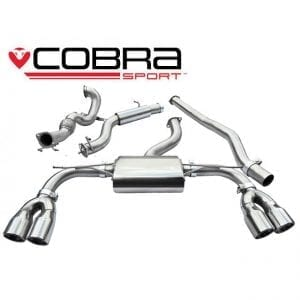 Cobra Exhaust for Fiat 500 Abarth 1.4 Turbo – FT11 – Cat Back System (Non-Resonated)