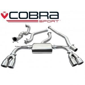 Cobra Exhaust for Vauxhall Astra H SRI 2.0 T – VX73 – Cat Back System (Non-Resonated)