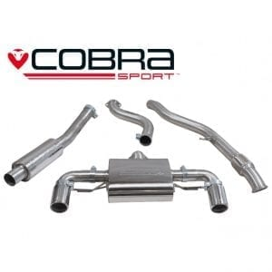 Cobra Exhaust for Vauxhall Astra G Turbo (Coupe) – VZ10b – Turbo Back Package (with Sports Cat & Non-Resonated)
