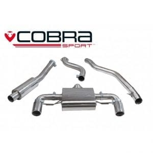 Cobra Exhaust for Vauxhall Corsa D VXR – VX17 – Cat Back System (Non-Resonated)